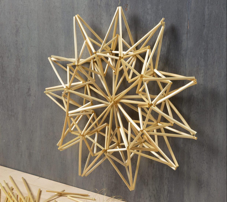 Lag selv julepynt: julestjerne og stjerne av halm til jul