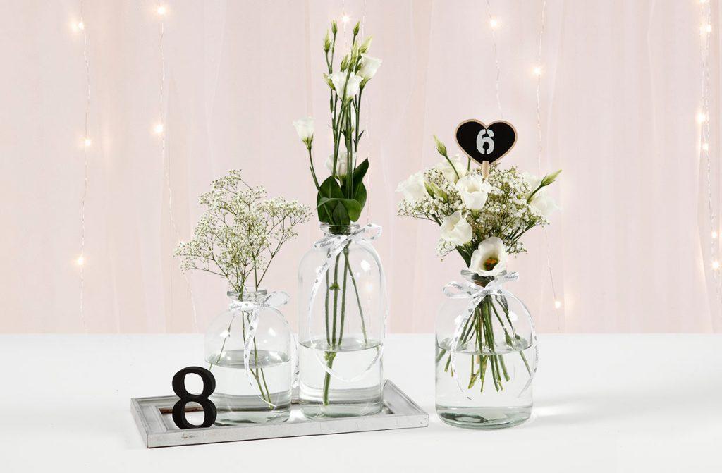 Bryllupspynt: Bordnummer av tall eller tavlehjerter