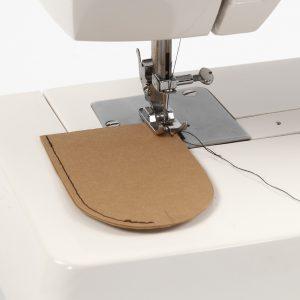 Lærpapir symaskin