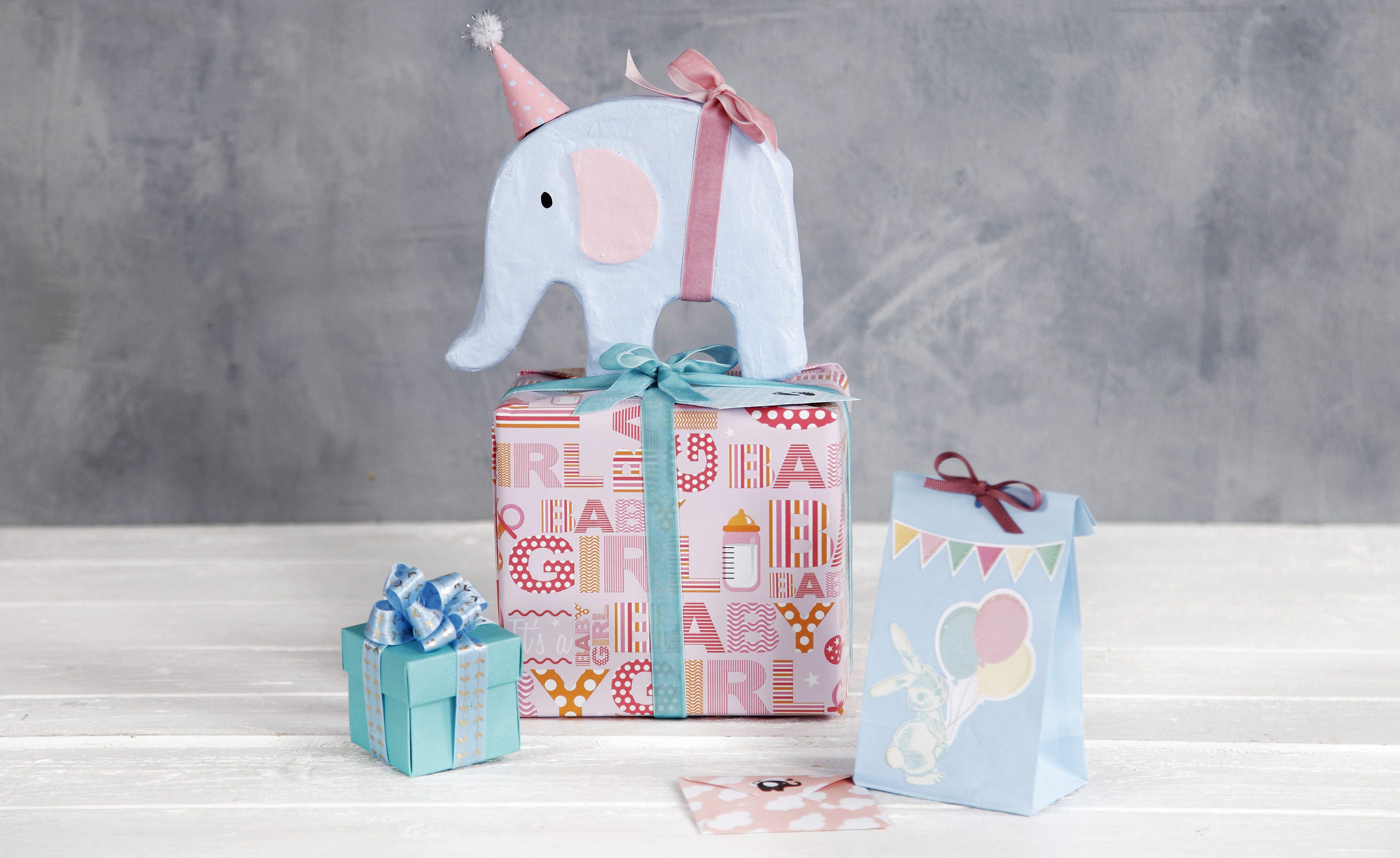 Baby shower gaveindpakning inspiration