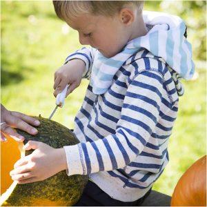 Halloween græskar skæresæt børnevenlig kniv
