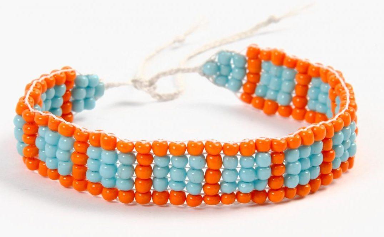 DIY smykkefremstilling lag selv smykker armbånd på perlevev