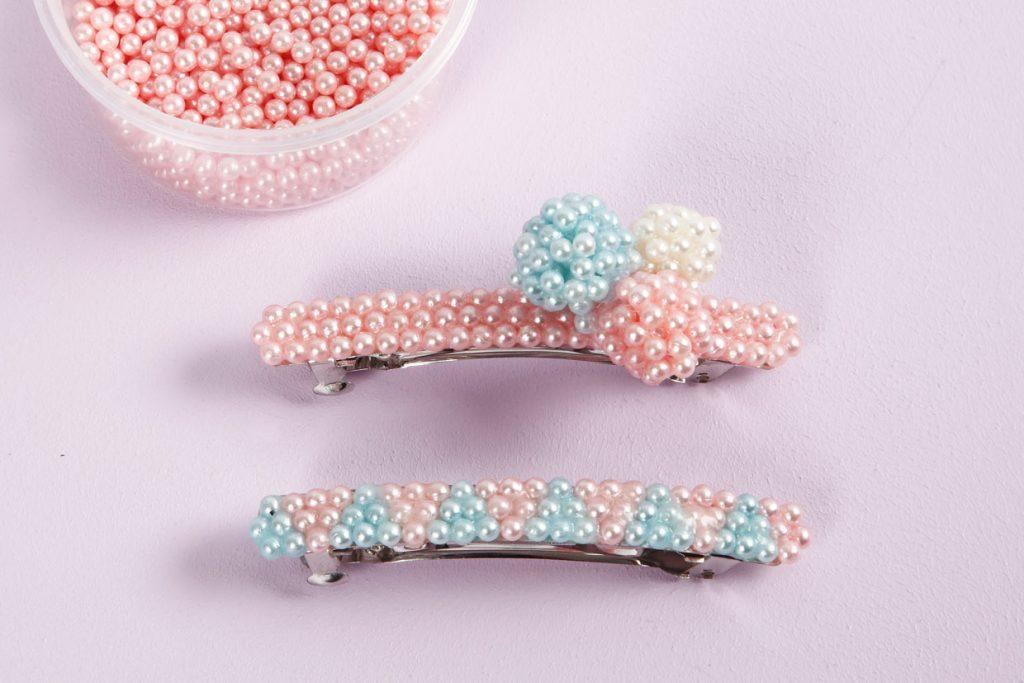 Kreative idéer med Pearl Clay modellering idé hårspenner lag selv smykker