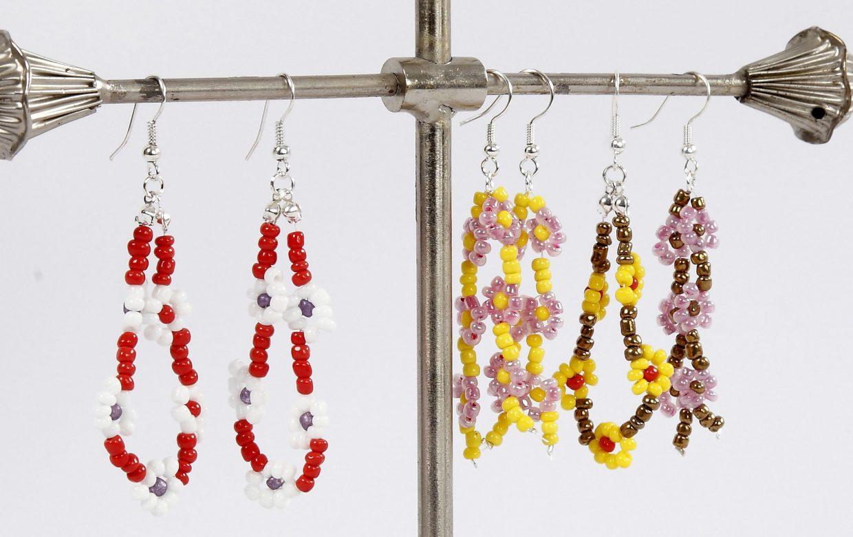 DIY smykkefremstilling lav selv smykker øreringe med rocaiperler