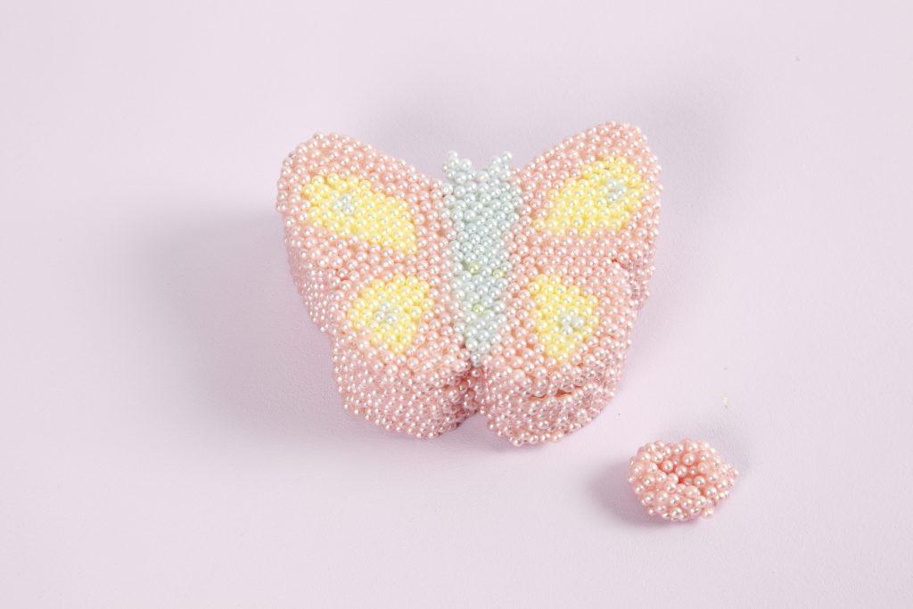 Kreative idéer med Pearl Clay modellering sommerfugl smykkeskrin av tre