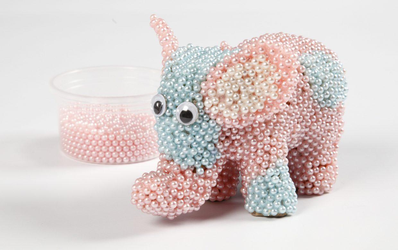 Kreative idéer med Pearl Clay modellering elefant av pappmaché
