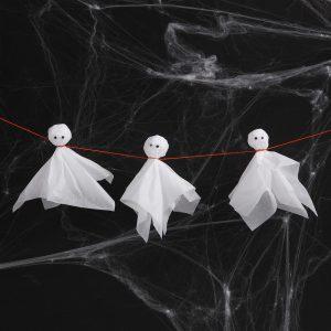 Kreativ halloween lag selv pynt med papirklipp spøkelser