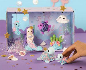 kreative idéer til børn, havfrue, inspiration til modellering