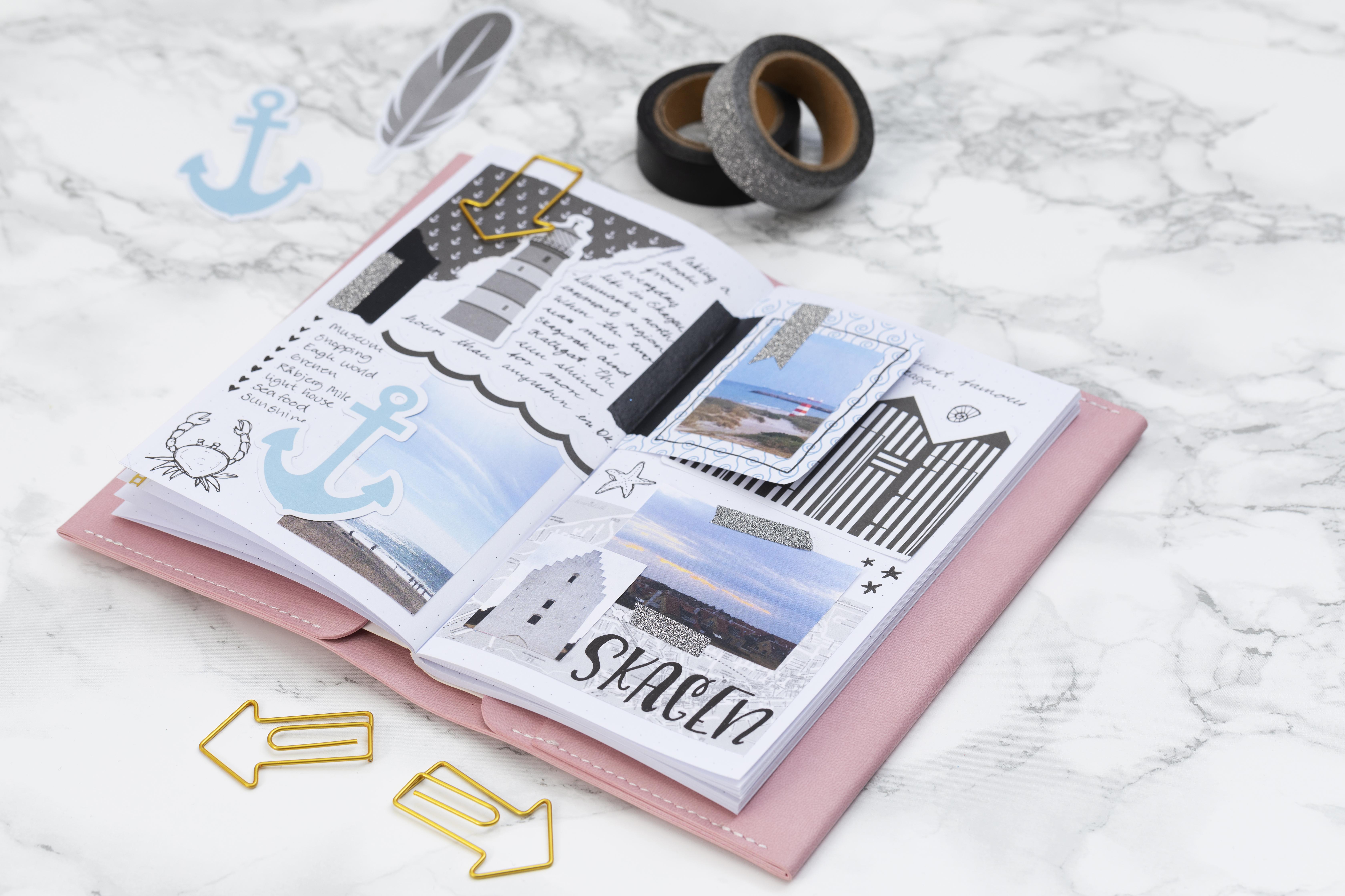 Lav selv en bullet journal og planner med rejseminder - find inspiration og idéer her