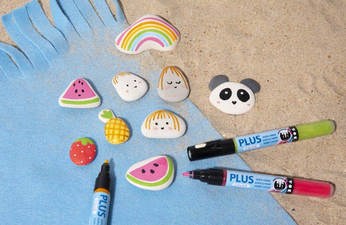 Morsom og kreativ ferie med barn - mal på sten