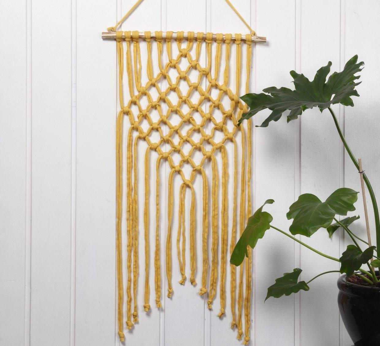Kreative idéer med garn - hekle, strikke, broderi med punch needle, DIY veggtepper