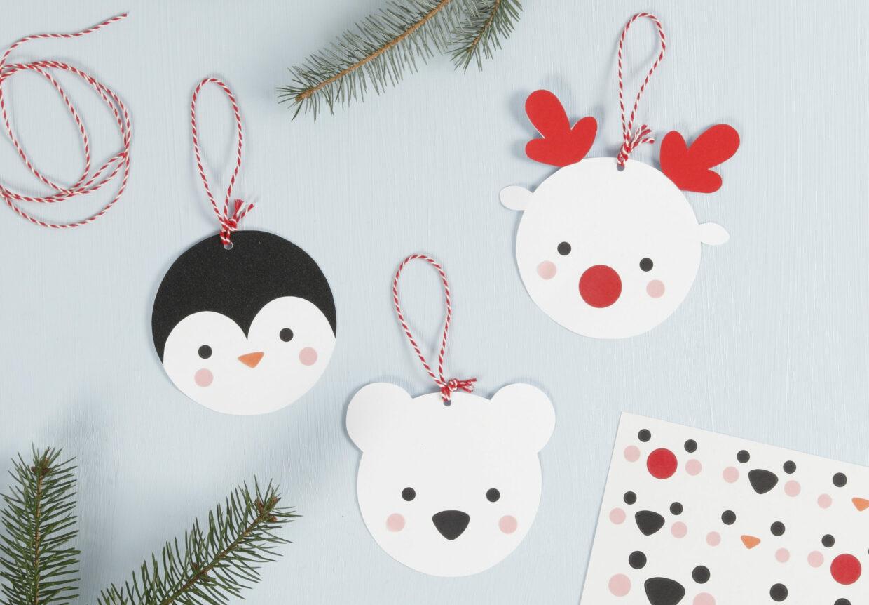 juleklipp til din diy jul med papir, kartong og pynt
