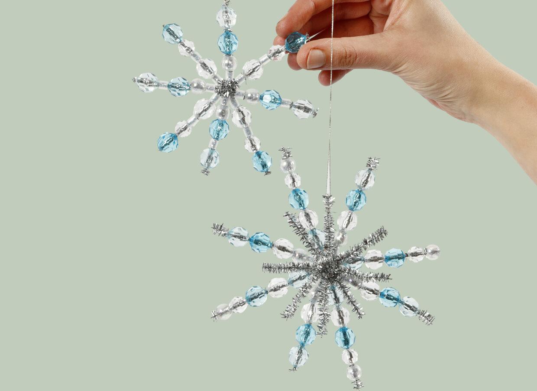Lag selv julepynt: julestjerne og iskrystall til jul