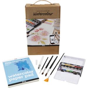Mal med akvarel for begyndere - lær at male med akvarel her