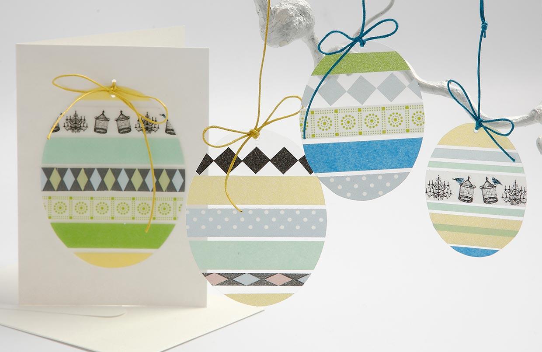 Påske og påskepynt: Egg i hardfolie med masking tape