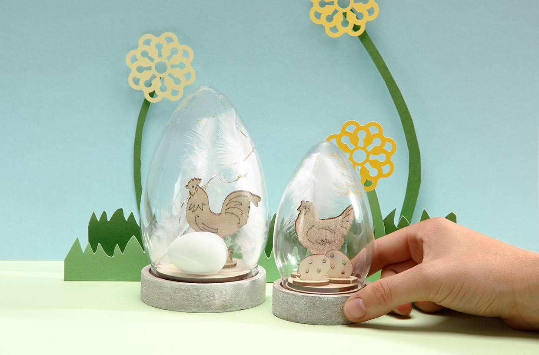 Påske: Minipåskeklokker på trefot